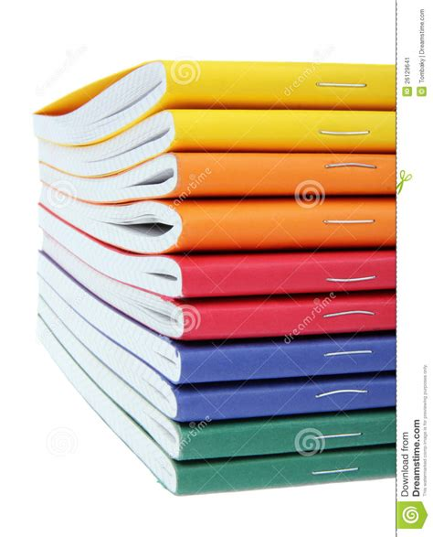 pics of books multicolored exercise books stock image image 26129641