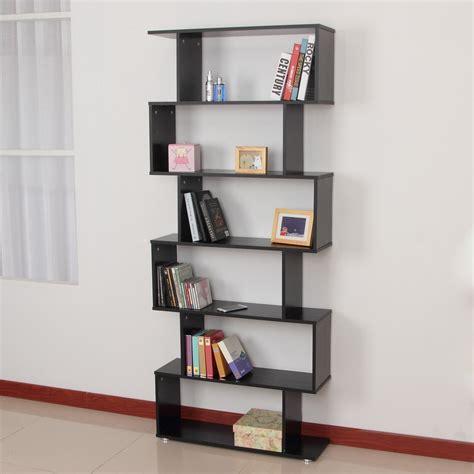 estante para libros infantiles homcom estanteria con 6 estantes para libros color negro