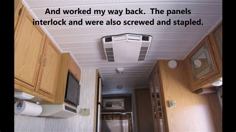 rv ceiling panel fix the sagging ceiling in your rv