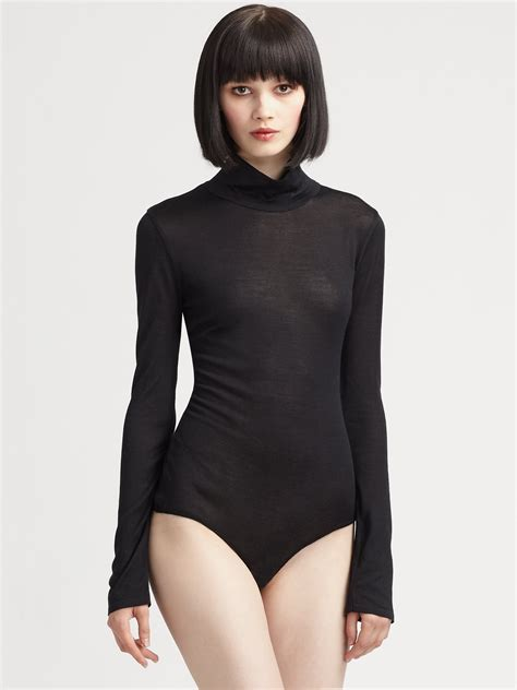 Black Bodysuit costume national silk bodysuit in black lyst