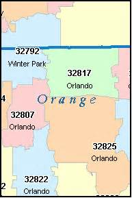 orlando florida zip codes map orlando florida fl zip code map downloads