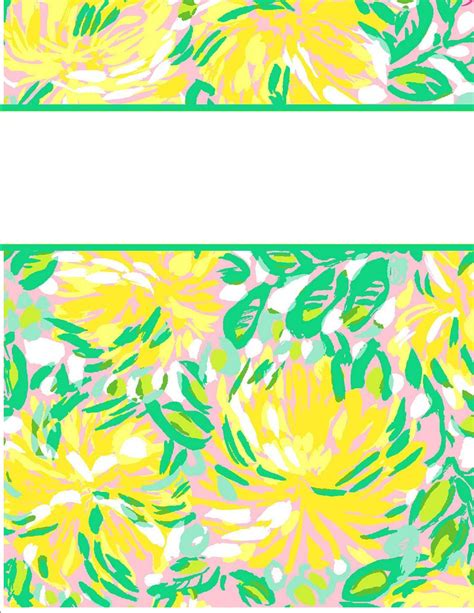 lilly pulitzer binder templates top lilly pulitzer binder cover templates images for