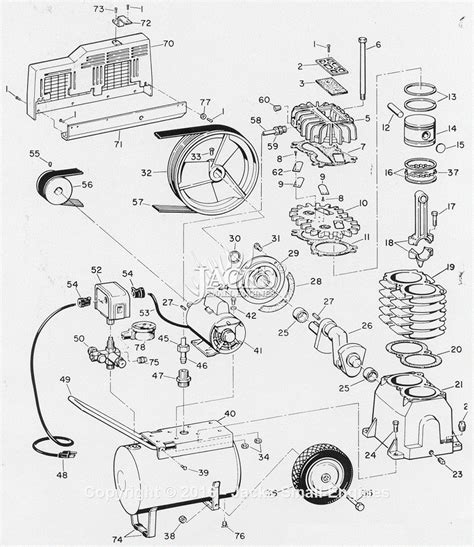cbell hausfeld fl3304 parts diagram for air compressor parts
