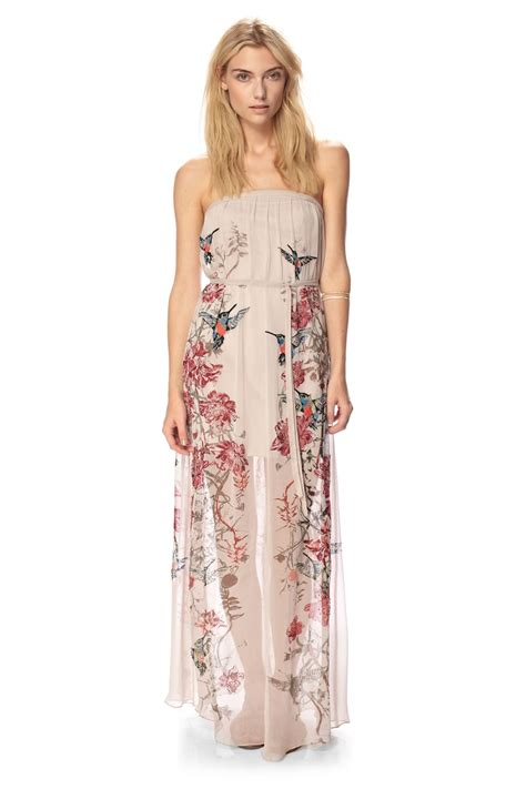 Lv New Maxi connection embroidered strapless maxi dress