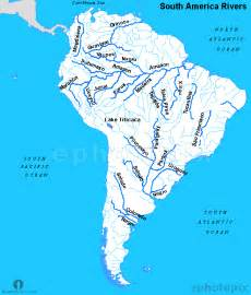 south america map with rivers south america rivers map rivers map of the south america