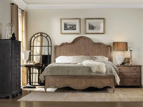 hooker bedroom furniture hooker furniture corsica wood panel bed bedroom set
