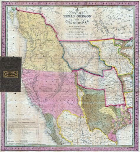 map from texas to california file 1846 mitchell s map of texas oregon and california geographicus txorca mitchell 1846