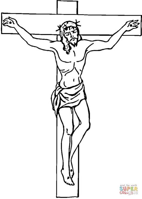 free printable coloring pages of jesus on the cross jesus on the cross coloring page free printable coloring