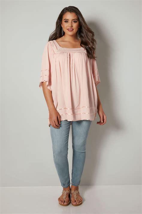Blouse Filia Pink pink bluse mit geh 228 kelter ausschnitt in gro 223 en gr 246 223 en 44