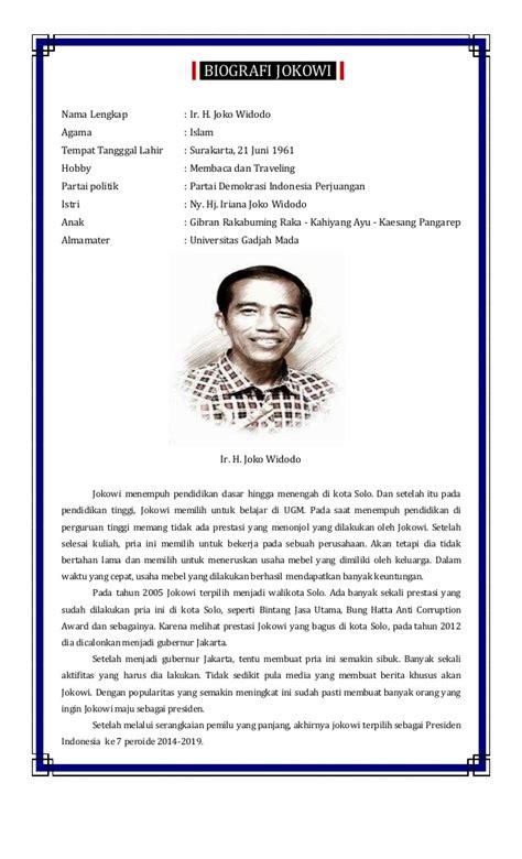 profil kabinet jokowi lengkap biografi jokowi