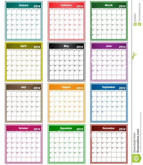calendar colors calendar 2014 assorted colors stock images image 33108394