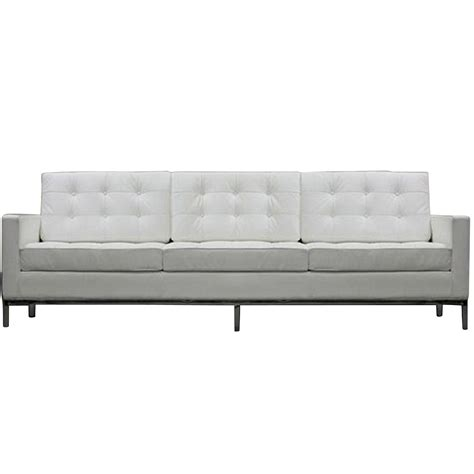White Tufted Leather Sofa White Leather Tufted Sofa Tufted White Leather Sofa Foter White Faux Leather Tufted Sofa