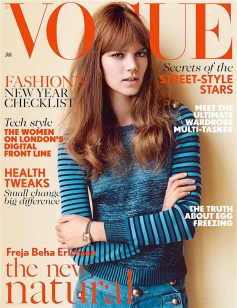 Miller Is Vogue Uks December Cover by Freja Beha Erichsen Lands 5th Vogue Uk Cover