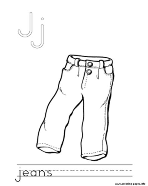 printable jeans template j for jeans alphabet f87c coloring pages printable