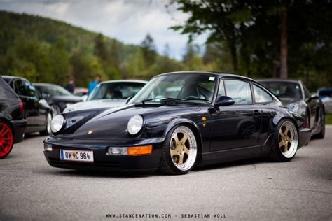 stanced porsche stanced porsche 964 sport cars the o jays