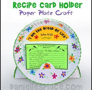 Paper Plate Crafts For Sunday School - paper plate recipe card holder bible craft for children s
