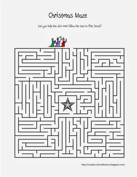 Free Sunday School Worksheets by Follow The Maze Free Sunday School