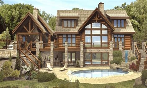 unique log home plans luxury log cabin home plans custom log homes timber style