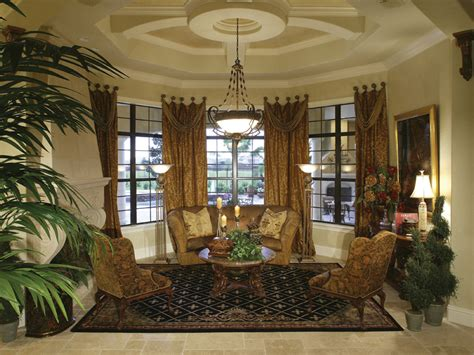 formal living room window treatments contemporary house plan living room photo 01 plan 047d