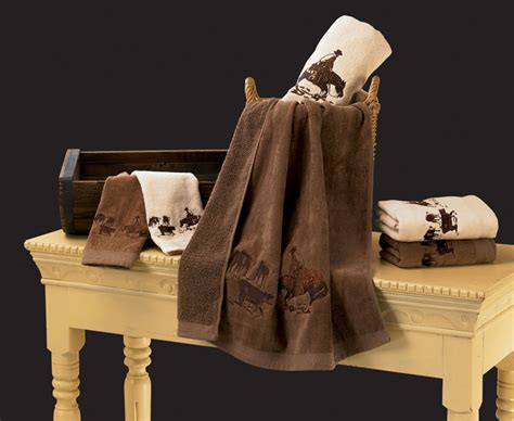 horse bathroom set embroidered cutting horse bath towel set texas towels