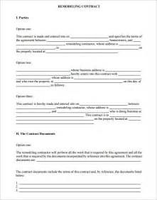 Remodeling Contract Template by 7 Remodeling Contract Templates Free Word Pdf Format