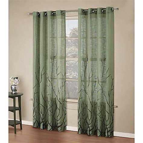 alton drapes alton print 63 inch grommet top panel in sage bed bath