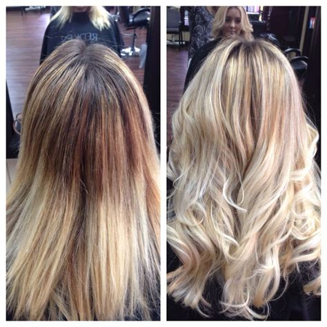 should wash hair before bayalage before after blonde balayage olaplex hair by