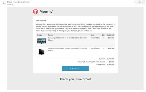 Abandoned Cart Extension For Magento Templates Master Abandoned Cart Email Template