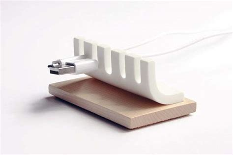 Cable Organizer Desk Handmade Wooden Minimal Desk Cable Organizer Gadgetsin