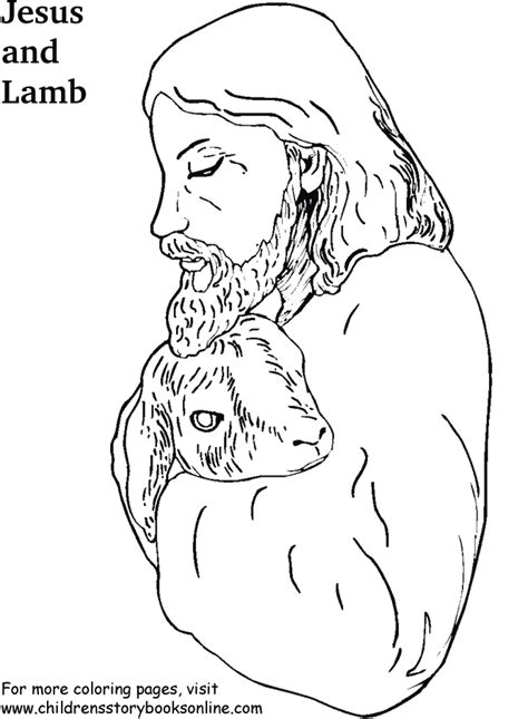 free jesus the lamb of god coloring pages