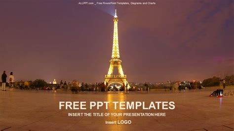 The Eiffel Tower Recreation PowerPoint Templates