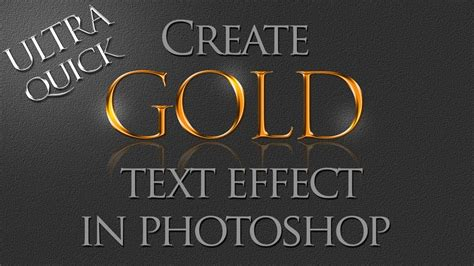 design font in photoshop photoshop tutorial how to create gold text effect using