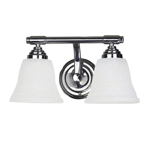 home depot vanity lights for bathroom yosemite home decor vanity lighting series 2 light chrome