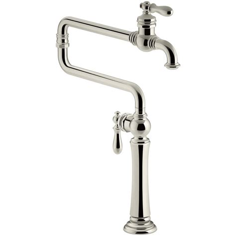 polished nickel kitchen faucets shop kohler artifacts vibrant polished nickel 2 handle