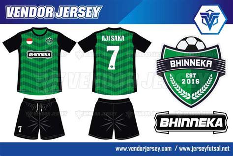 desain baju futsal horishine vendor jersey futsal pesanan baju bola futsal bhinneka fc dari jakarta vendor