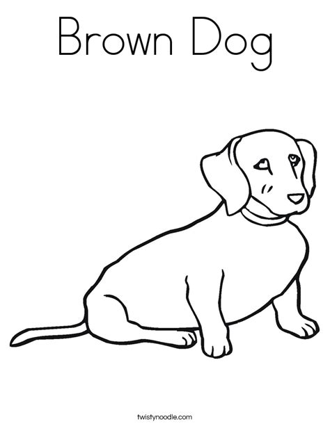 brown dog coloring page twisty noodle
