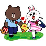Happy Family Character Sticker line characters family special line sticker rumors city