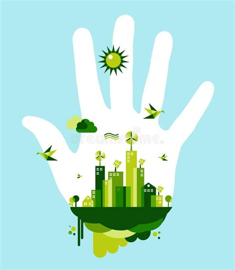 go green city background stock vector image of media go green city hand concept stock vector image of planet