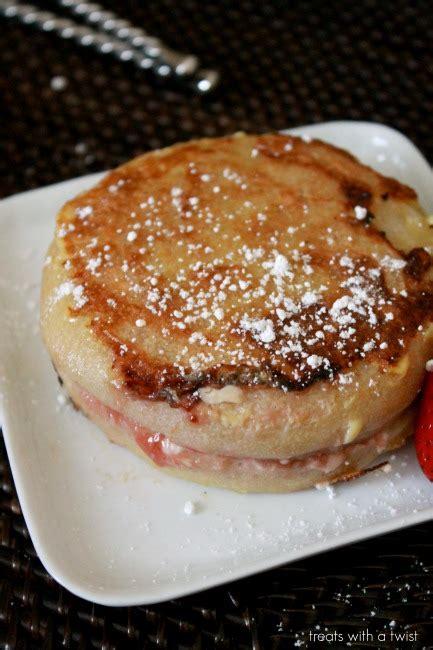 stuffed twist 2015 strawberry stuffed english muffin french toast treats
