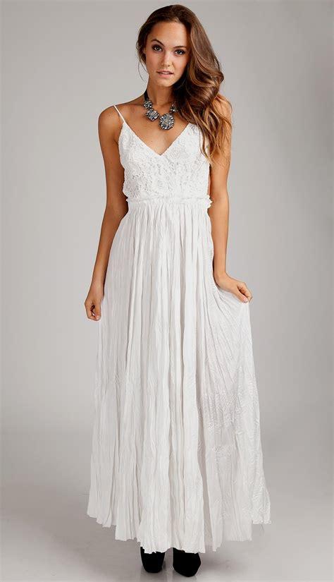 long white lace maxi dress Naf Dresses