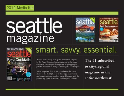 departures home and design media kit seattle magazine 2012 media kit