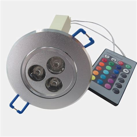 remote recessed lights 3 1w rgb led recessed ceiling light spotlight downlight