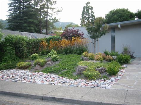 Rock Garden Front Yard Ideas For A Slope Landscaping A Hillside With Boulders