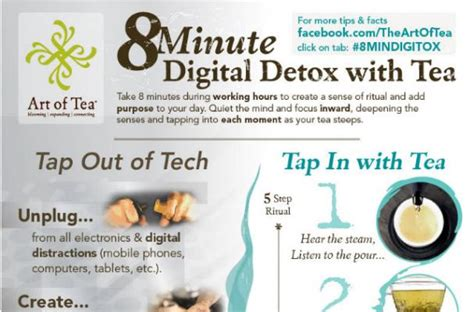 Digital Detox Company by Foodista Infographic An 8 Minute Digital Detox With Tea