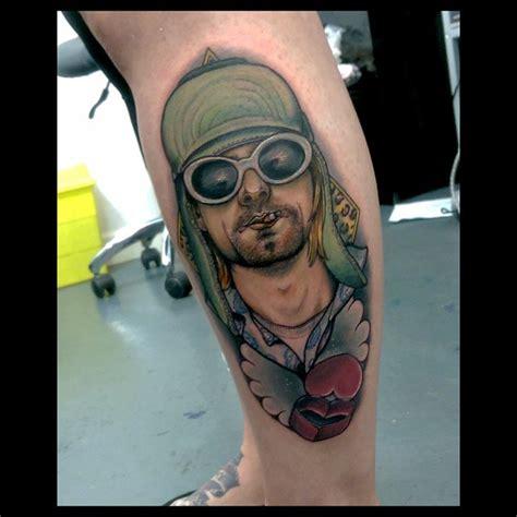 kurt cobain tattoos leg new school kurt cobain best ideas gallery