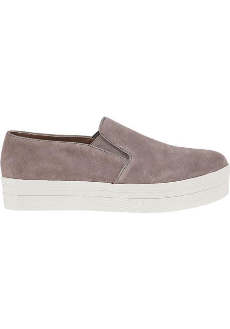 steve madden sneakers lyst steve madden buhba suede platform sneakers in brown