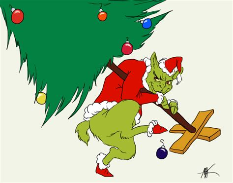 how the grinch llama stole christmas by inkyness on deviantart