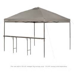Gazebo With Bar Table Ozark Trail Bar Height 10 Folding Canopy Table Walmart