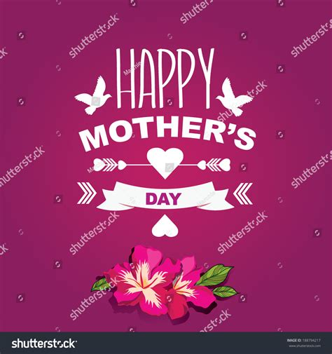 s day poster poster happy mothers daytypography stock vector 188794217