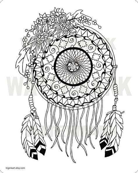coloring pages for adults dream catchers sunflower dream catcher adult coloring page by triginkart